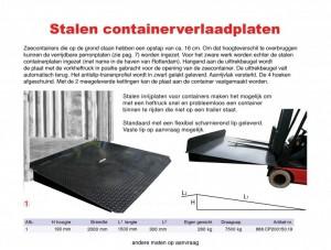 Container inrijplaten